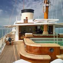 Talitha Yacht Upper Deck with Pool