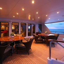 Majestic Yacht Exterior Seating - Sunset