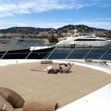 Voyage Yacht Foredeck Sunbathing