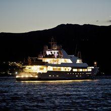 Achilles Yacht Under Water Lights