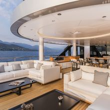 Suerte Yacht Upper Deck Aft Seating