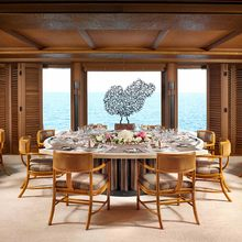 Kogo Yacht Interior Dining