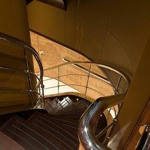 Caoz 14 Yacht Upper Stairwell
