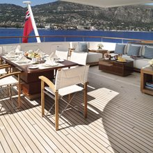 Ambition Yacht Exterior Dining