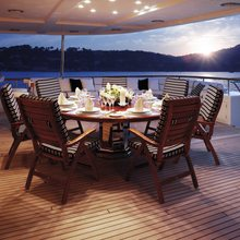 Ambition Yacht Aft Dining
