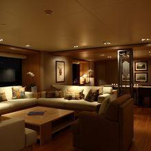 Exuma Yacht Main Salon - Night