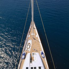 M5 Yacht Aerial View - Bow