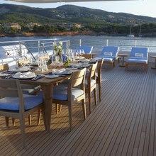 Megan Yacht Exterior Dining