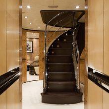 Caoz 14 Yacht Lower Stairwell