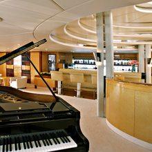Lady A Yacht Main Salon & Bar