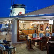Talitha Yacht Upper Deck - Outside Dining