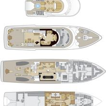Lady A Yacht Deck Plans