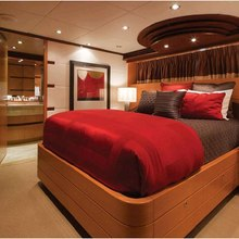 Chosen One Yacht Red Guest Stateroom