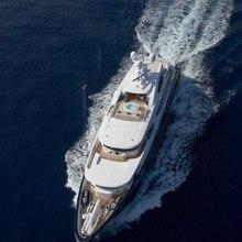 Ice Angel Yacht Running Shot - Overhead
