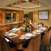 Caprice Yacht Dining Salon