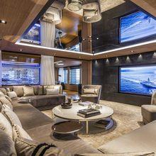 Suerte Yacht Main Salon TV