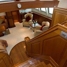 Corto Maltese Yacht Stairs to Saloon