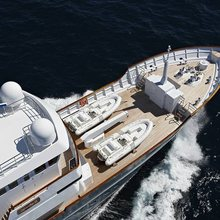 Sea Eagle Yacht Running Shot - Overhead