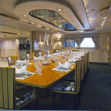 FAM Yacht Interior Dining