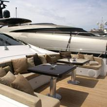 Voyage Yacht Dining Area on Foredeck