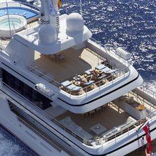 Megan Yacht Aerial View - Decks