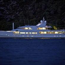 Achilles Yacht Night Profile