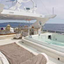 Veneta Yacht Sunbathing area