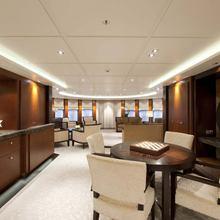 Bella Vita Yacht Main Deck Salon Looking Aft