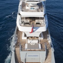 Mogambo Yacht Rear View - Decks