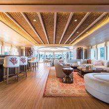 Here Comes The Sun Yacht Main Salon with Bar Area