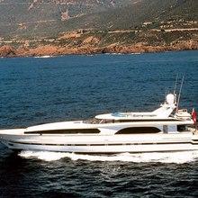 Caprice Yacht Running Shot - Profile