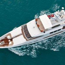 Chosen One Yacht Running Shot  - Overhead