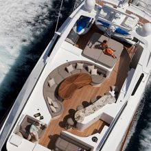 Strega Yacht Running Shot - Aerial