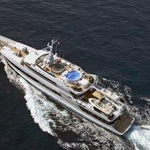 FAM Yacht Running Shot - Aerial View