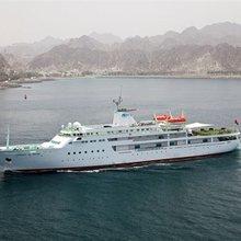 Al Mabrukah Yacht Running Shot