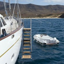 Ethereal Yacht Tender Alongside