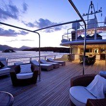 Achilles Yacht Bridge Deck - Dusk