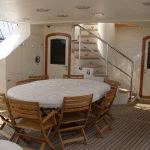 Paradis Yacht Exterior Dining