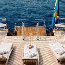 Caoz 14 Yacht Aft Deck - Swim Platform