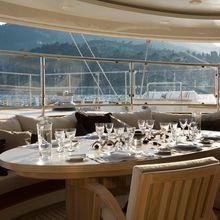 Caoz 14 Yacht Aft Deck Dining