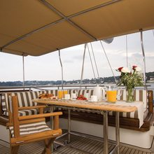 Corto Maltese Yacht Upper Deck Seating Table