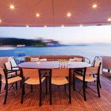 Strega Yacht Exterior Dining