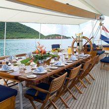 Fleurtje Yacht Aft Deck