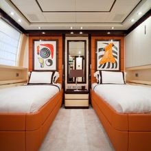 Be On It Yacht Red Twin Stateroom