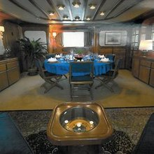 Blue Gold Yacht Dining