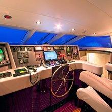 Strega Yacht Pilothouse
