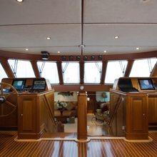 Corto Maltese Yacht Pilothouse