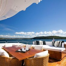 Be On It Yacht Aft Deck