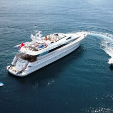 Strega Yacht Aerial View