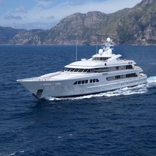 Majestic Yacht Running Shot - Side View